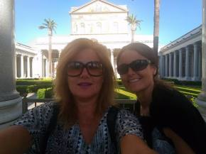 Me and Sandra visiting St Pauls Cathedral. Another one of the four big Cathedrals in Rome.