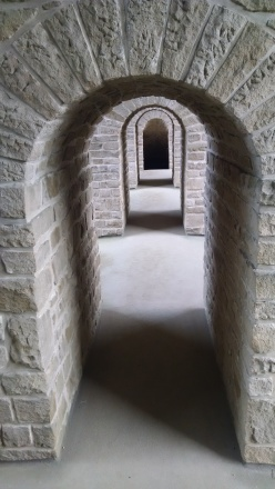 Inside the Casemates tunnels