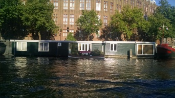 Houseboats along the canals