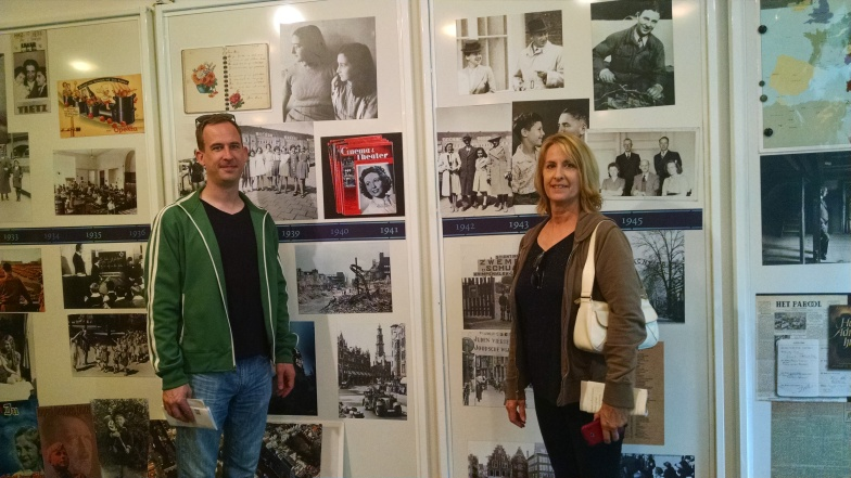 Jeremy & Kathy inside the introduction room in the Anne Frank House