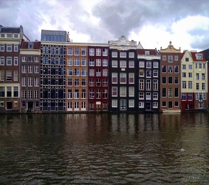 Amsterdam homes along the canals