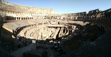 Inside of Roman Colosseum.