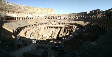 Inside of Roman Colosseum.