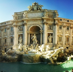 Newly restored Trevi Fountain.