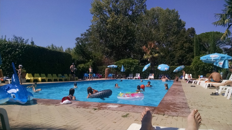 Pool at Tiber Campground & Hostel
