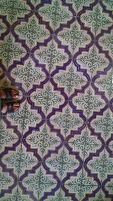 Flooring in Castel Nuovo.