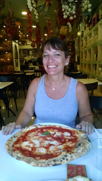"Naples lunch. Italy's version of a ""personal pan pizza."""