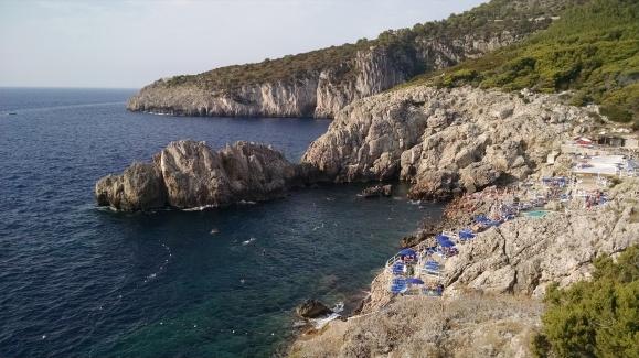 Swim hole down below on the Island of Capri, Italy.