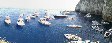 Visiting the Blue Grotto - Capri, Italy.