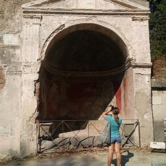 Volcano ruins of Pompeii, Italy.