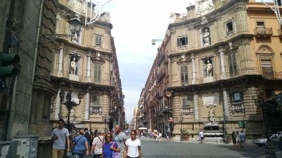 Along the streets of Palermo, Sicily.