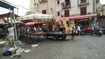 Street markets of Palermo, Sicily.