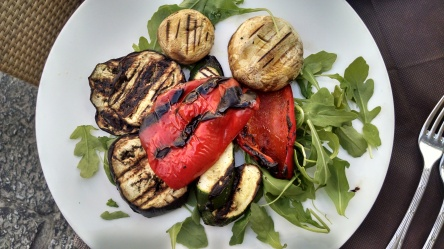 Grilled veggies were very much welcomed. Palermo, Italy.