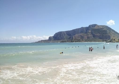 Mondello - Beach area in Palermo, Sicily.