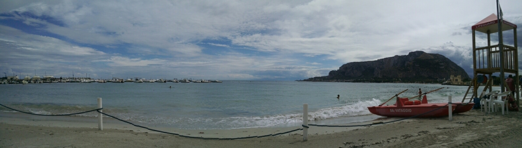 Mondello - beach area in Palermo, Sicily.