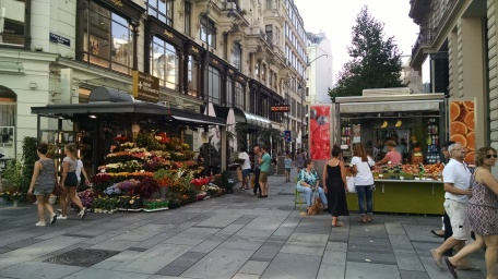 Street stands of Vienna
