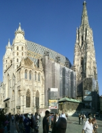 St Stephens Church in the center of Vienna
