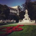 Mozart garden in Vienna