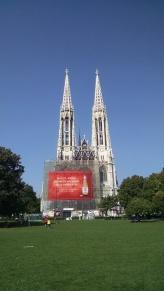 Votive Cathedral under construction.