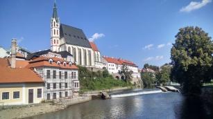 Cesky Krumlov along the Vltava River