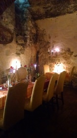 Underground restaurant in Prague.