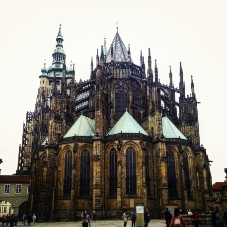 St Vitus Cathedral on Prague Castle grounds