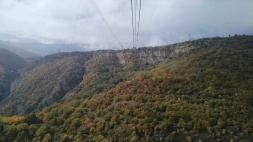 Clear view of the valley below from the tramway