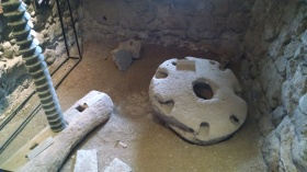 Remains of oil press at Tatev Monastery