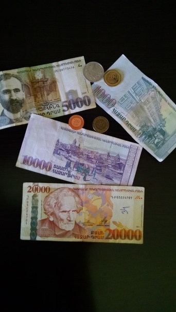 "Armenian currency called the ""Armenian Dram"""