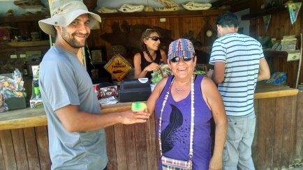 Helen Morgan-Sanchez, owner of GMS Management Solutions, visiting the crocodile farm in the desert.