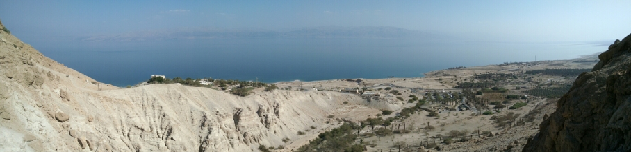View of the Dead Sea from Engedi hike