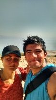 My friend and entertainment, Angel Martinez - hiking in Engedi