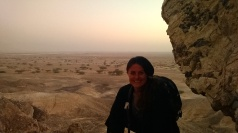 Hiking in the Negev Desert