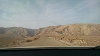 Driving in the Negev Desert