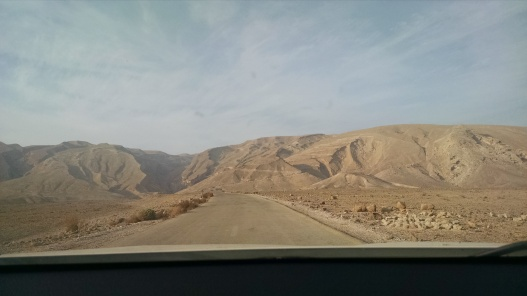 Driving in the Negev Desert