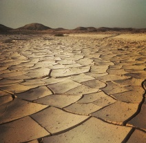 Dry cracked earth of the Negev Desert
