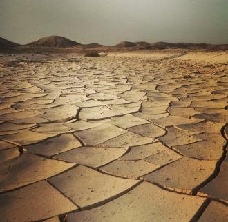 Dry cracked earth of the Negev Desert