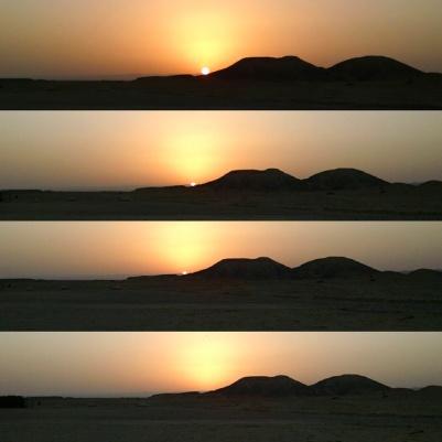 Sunset in the Negev Desert