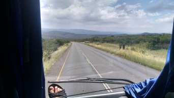 View from the front seat of Greyhound