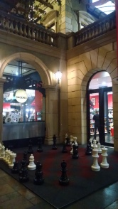 Chess anyone? Outside the bookstore in Montecasino