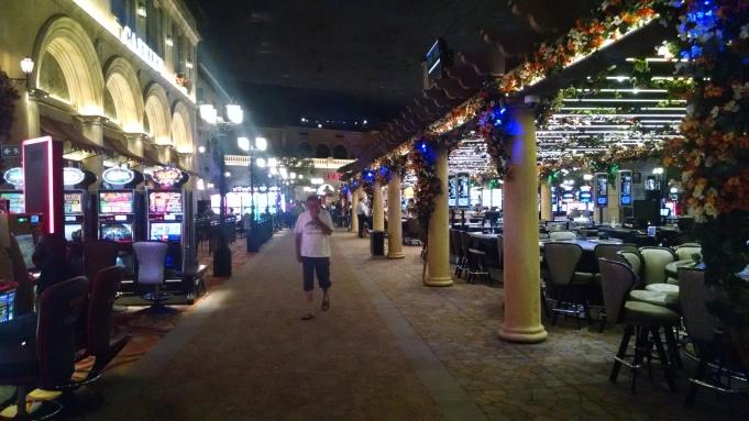 Walking through the casino in Montecasino.