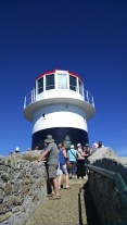 Lighthouse on Cape Point is busy tourist destination