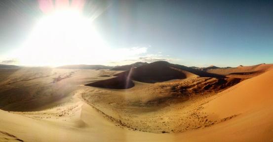 View from Dune 45 of the vast sea of dunes below.