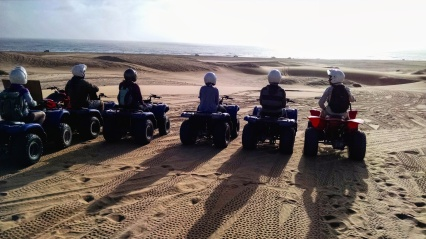 View of the Atlantic Ocean from the Namib Desert. Photo credit: Quad biking guide