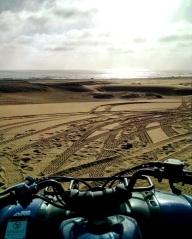 View of the Atlantic Ocean from the Namib Desert.