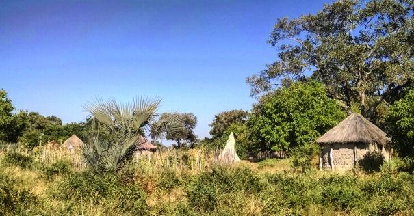 Village hut along the drive