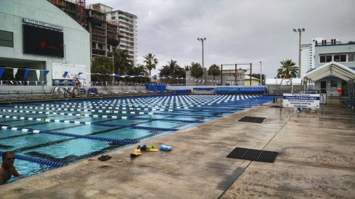 Museum and lap swimming at the International Swimming Hall of Fame in Fort Lauderdale, Florida.